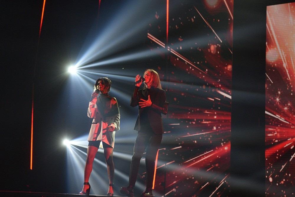 Клавс Озолс и Амината. Третий сезон X Faktors Latvija. Фото: skaties.lv