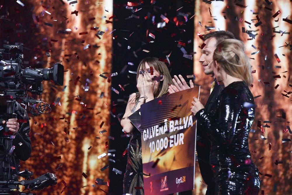Победительница третьего сезона X Faktors Latvija Элина Глузунова. Фото: skaties.lv