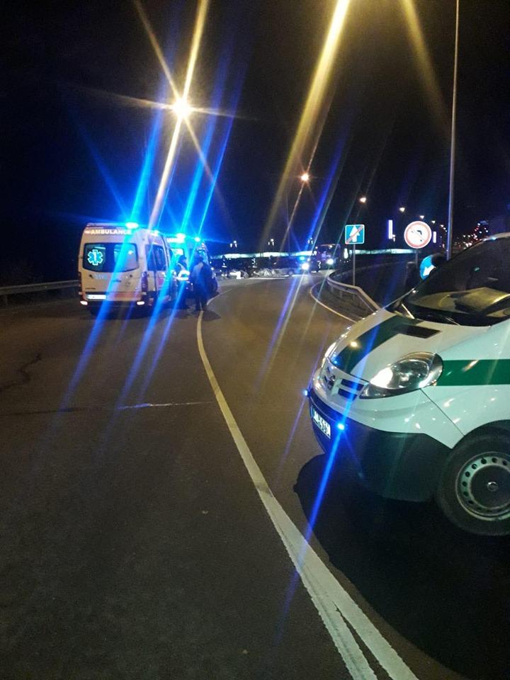 Авария в Даугавпилсе 5 декабря 2019 года. Фото: gorod.lv