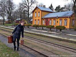 Блогер Юлиана Ильина в Аникщяе. Фото: Станислав Горбунов