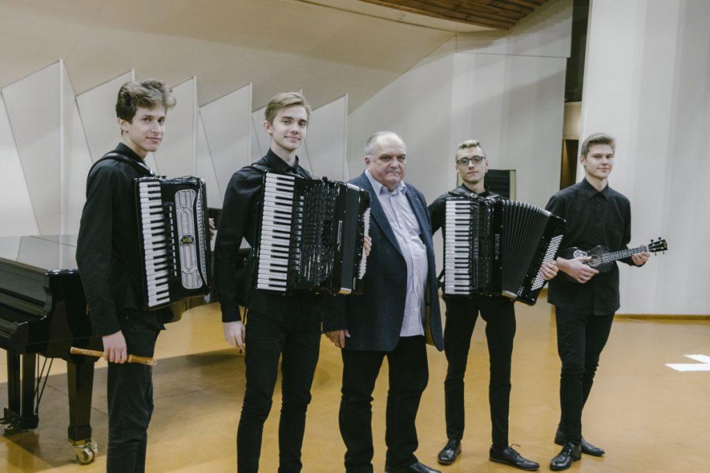 Квартет аккордеонистов Даугавпилсской музыкальной школы. Фото: Евгений Ратков