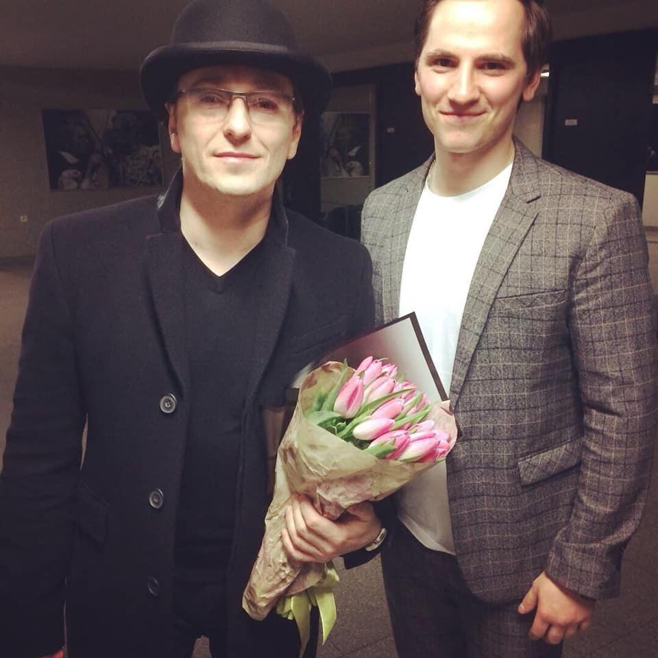 С Сергеем Безруковым. Фото из личного архива Эдийса Залакса