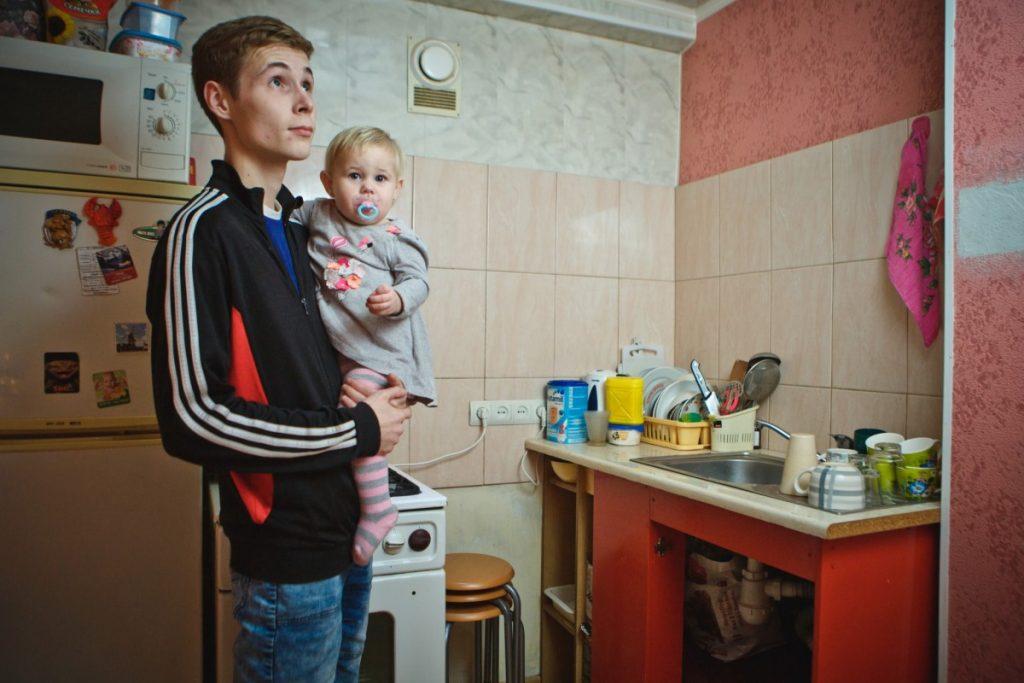 Дариус Ершов с дочкой. Фото: Сергей Соколов