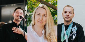 Артём Абарас, Ольга Цауне и Дмитрий Валайнис. Фото: Ирина Маскаленко