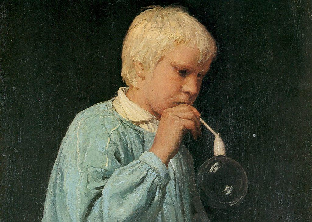"""Альберт Анкер. """"Мыльный пузырь"""", 1873 год. Пресс-фото"""
