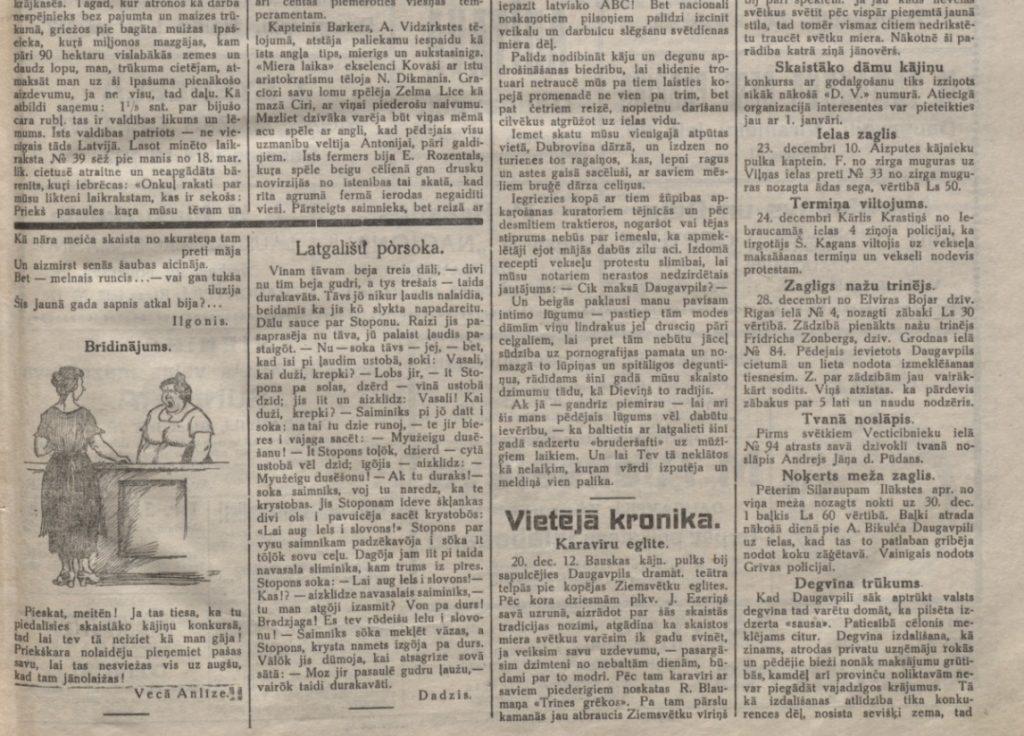 Газета Daugavas Vards, Nr.1 (01.01.1927)