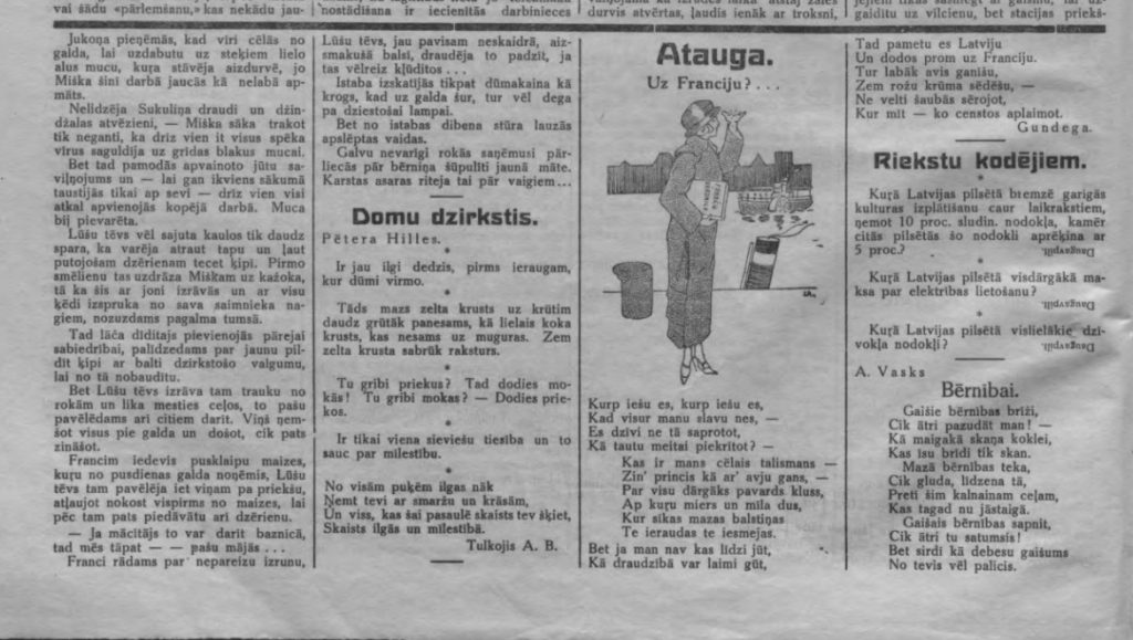 Газета Daugavas Vards, Nr.2 (08.01.1927)
