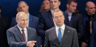 Владимир Путин и Дмитрий Медведев. Фото: youtube.com