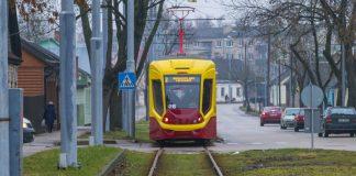 Новый трамвай в Даугавпилсе. 31 января 2020 года. Фото: Евгений Ратков