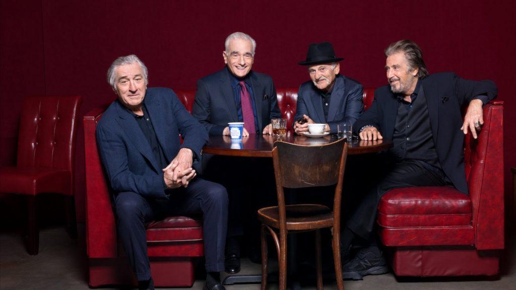 Роберт Дениро, Мартин Скорсезе, Джо Пеши и Аль. Пачино. Фото: Netflix.com