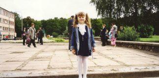 """Ученица 1""""А"""" класса Даугавпилсской средней школы №13, 2001 год. Фото из личного архива"""