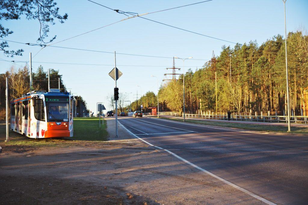 Новая трамвайная линия маршрута №3 в Даугавпилсе. 5 февраля 2020 года. Фото: Ирина Маскаленко