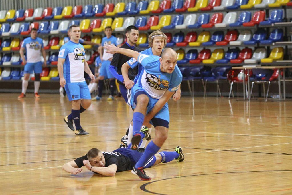 Чемпионат Даугавпилса по футзалу. «Lebedev Team» - «Nine Team». Фото: Сергей Кузнецов
