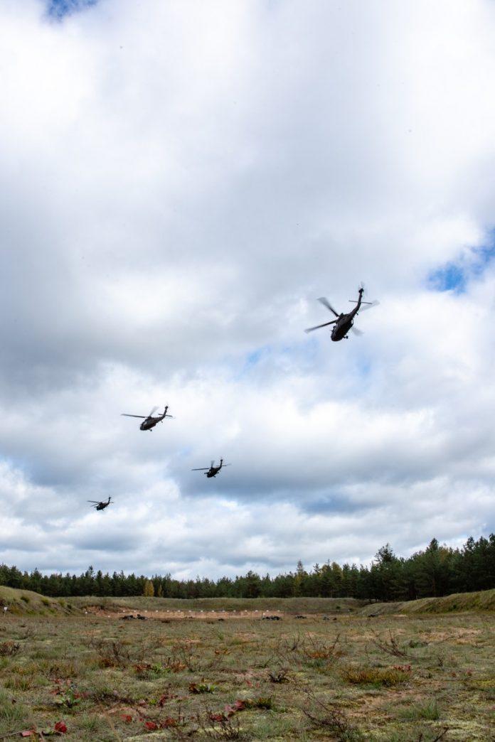 Учения «Tomahawk Soering» на полигоне «Межа Мацкевичи». Сентябрь 2018 года. Фото: zs.mil.lv