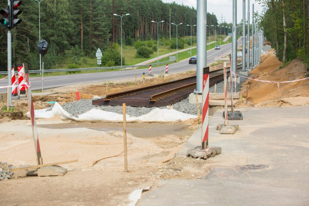 Строительство новой трамвайной линии в Даугавпилсе. 27 августа 2018 года. Фото: Сергей Кузнецов