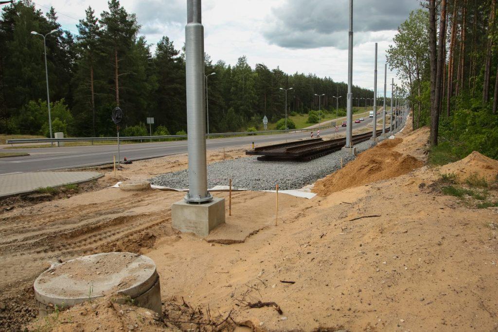 Строительство новой трамвайной линии в Даугавпилсе. 6 июня 2018 года. Фото: Сергей Кузнецов