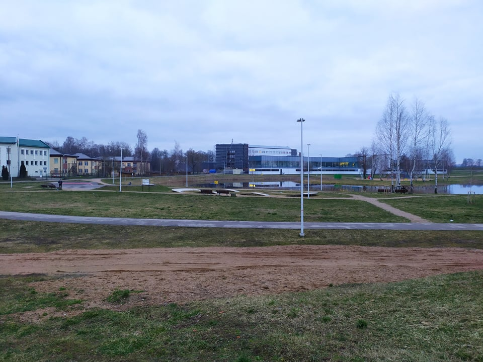Место, где планируют оборудовать музыкальный сквер. Даугавпилс, 3 марта 2020 года. Фото: Евгений Ратков