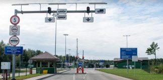 Латвийско-российская граница в посёлке Гребнева. 15 марта 2020 года. Фото: Елена Иванцова