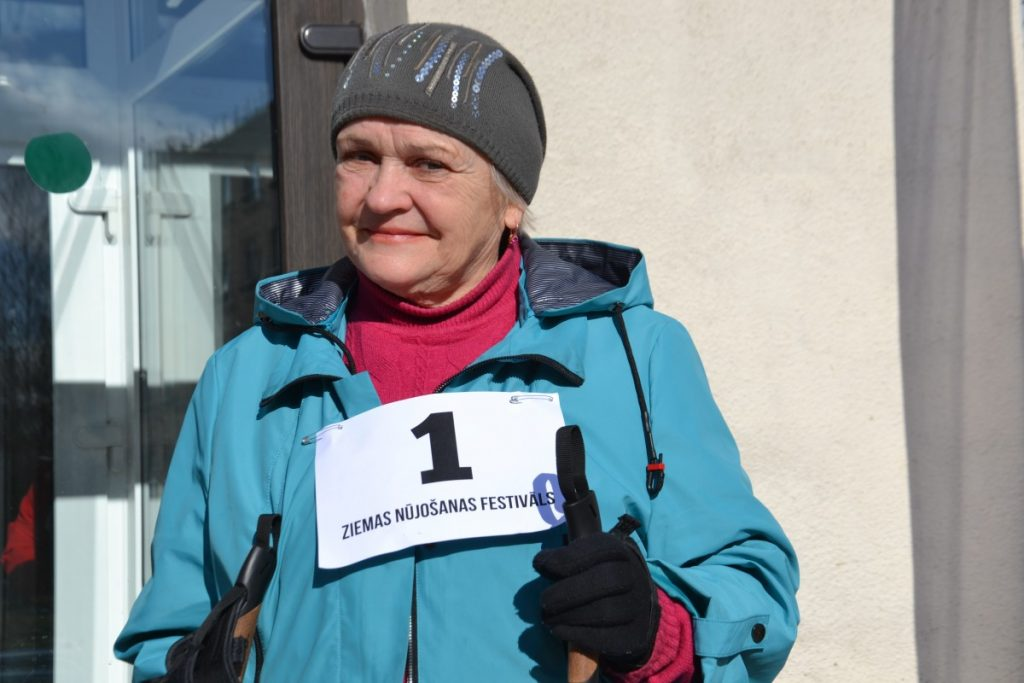 Лилия Рака, участница фестиваля по скандинавской ходьбе в Даугавпилсе. 29 февраля 2020 года. Фото: Елена Бородкина
