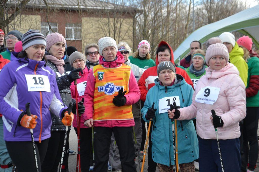 Фестиваль скандинавской ходьбы в Даугавпилсе. 29 февраля 2020 года. Фото: Chayka.lv