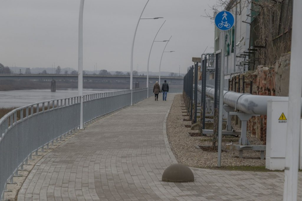 Променад на улице Бругю. Даугавпилс, 28 января 2020 года. Фото: Евгений Ратков