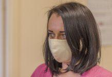 Многоразовая маска из хлопка производства Lattex D Фото: Евгений Ратков