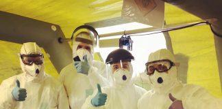 Работники 308 бригады Латгальского регионального центра службы неотложной медицинской помощи. Фото со страницы на фейсбуке Андрея Элксниньша