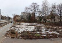 Территория, на которй планируется строительство магазина сети Lidl. Даугавпилс, 26 февраля 2019 года. Фото: Елена Чурсина