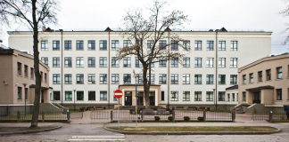 Даугавпилсская технологическая средняя школа – лицей. 13 марта 2020 года. Фото: Сергей Соколов