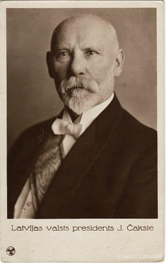 Янис Чаксте, 1-ый президент Латвии (1922-1927). Фото zudusilatvija.lv
