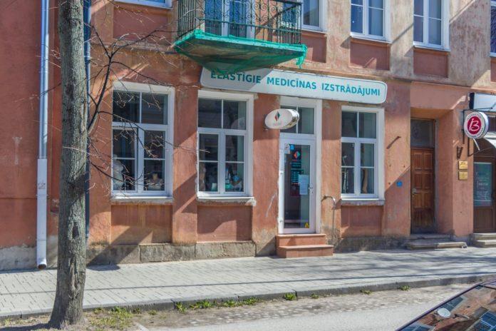 Магазин Tonus Elast в Даугавпилсе. 6 апреля 2020 года. Фото: Евгений Ратков