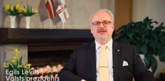 Эгил Левит Фото-скрин с видео поздравления президента Латвии с Пасхой