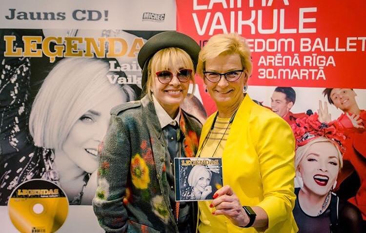 Лайма Вайкуле и Элита Милграве  Фото: Laima Voice