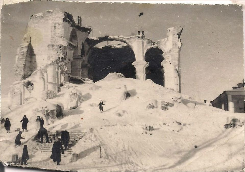 Разрушенный крепостной собор, Фото: Ретро Даугавпилс - Латвия