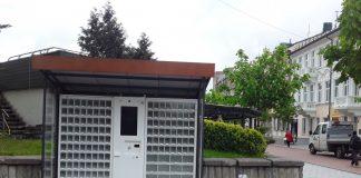 Сувенирный автомат на углу улиц Ригас и Михоэлса в Даугавпилсе. Фото: Елена Иванцова