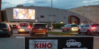 Drive-in кинотеатр в Валмиере. Фото: Drive-in kino Valmierā