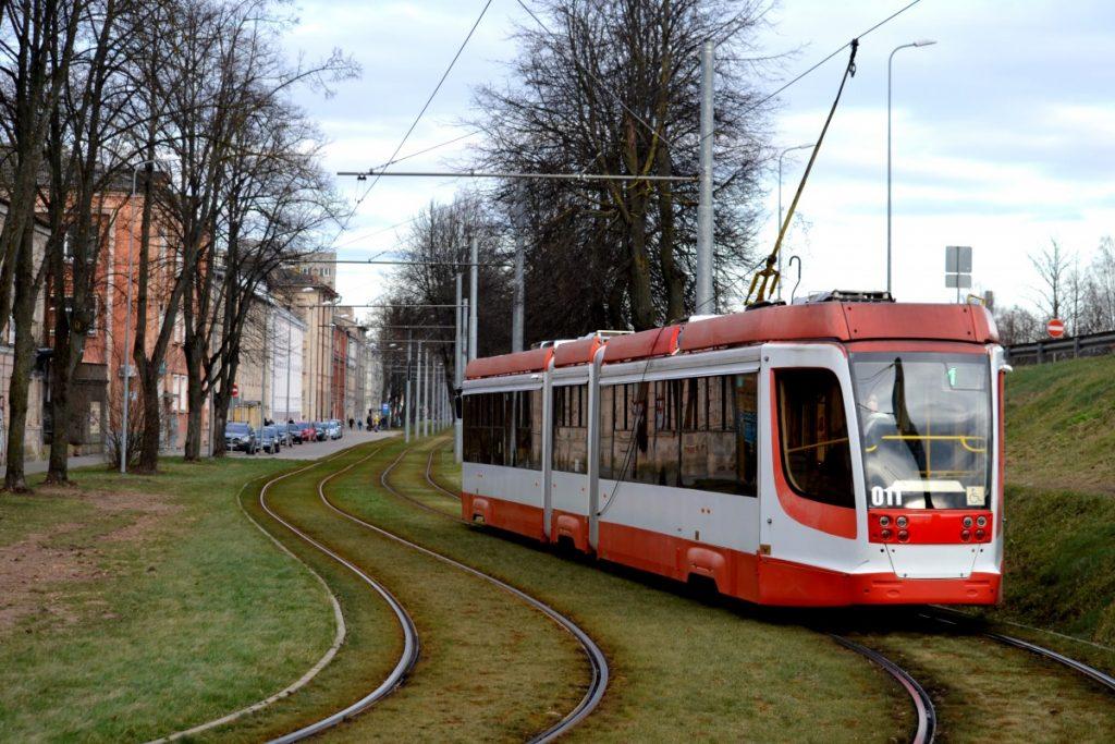 Трамваи в Даугавпилсе. Фото: Елена Иванцова