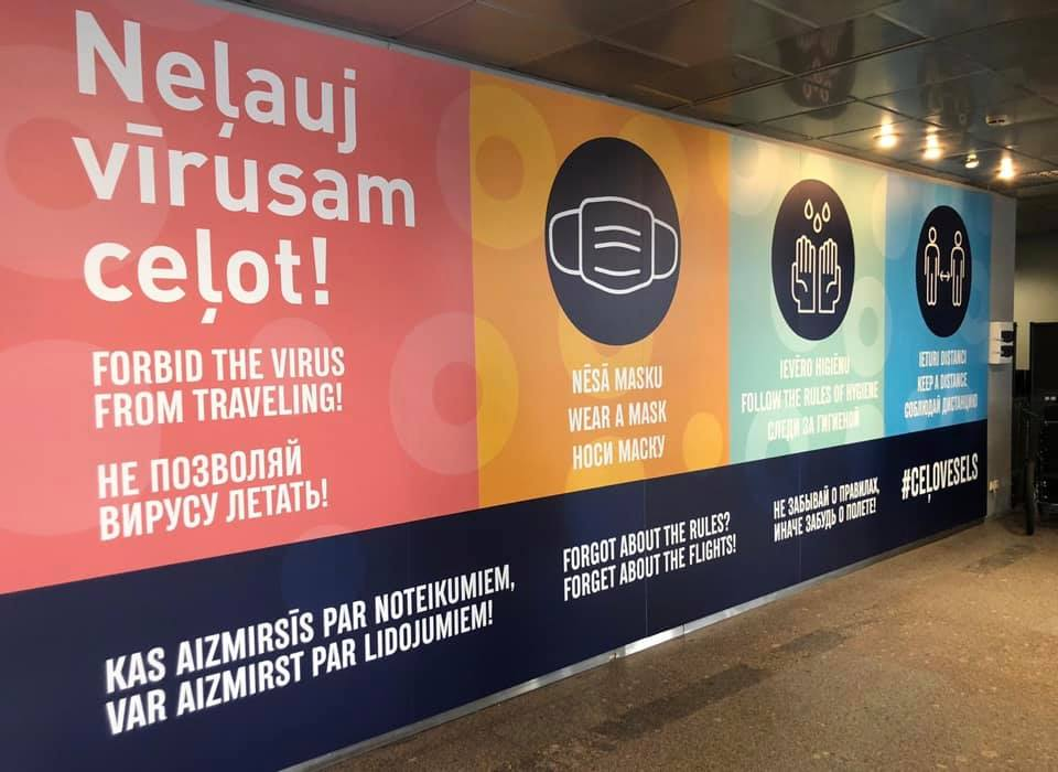 """Фото со страницы аэропорта """"Рига"""" на фейсбуке"""