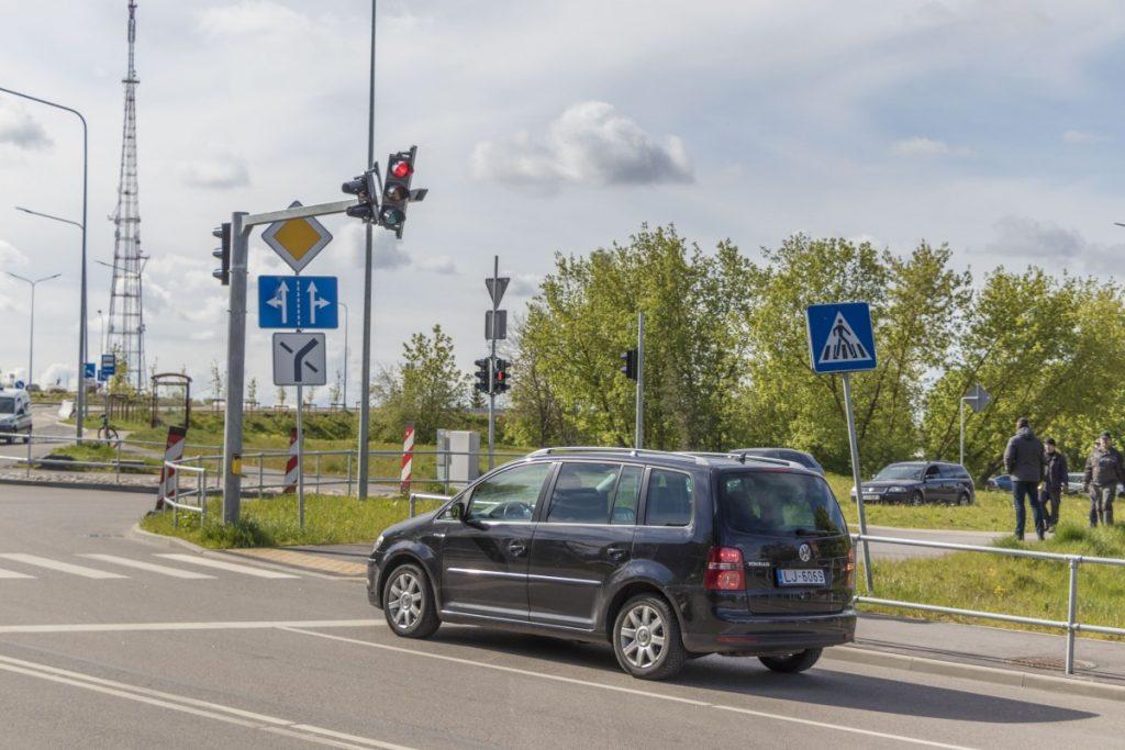 Открытие путепровода на ул. Смилшу в Даугавпилсе. 19 мая 2020 года. Фото: Евгений Ратков