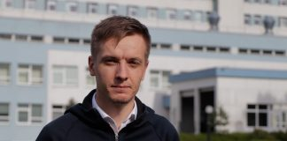 Руководитель Даугавпилсской региональной больницы Григорий Семёнов. 28 мая 2020 года. Фото: Евгений Ратков