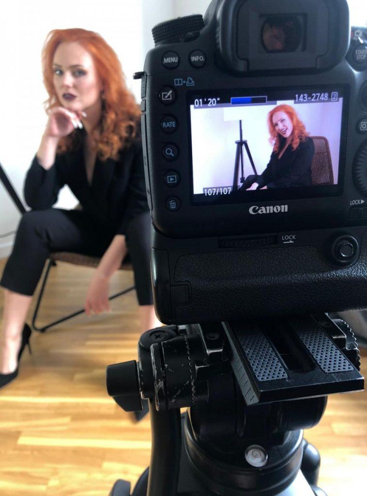 Съёмка первого клипа Ольги Лаксы. Фото из личного архива