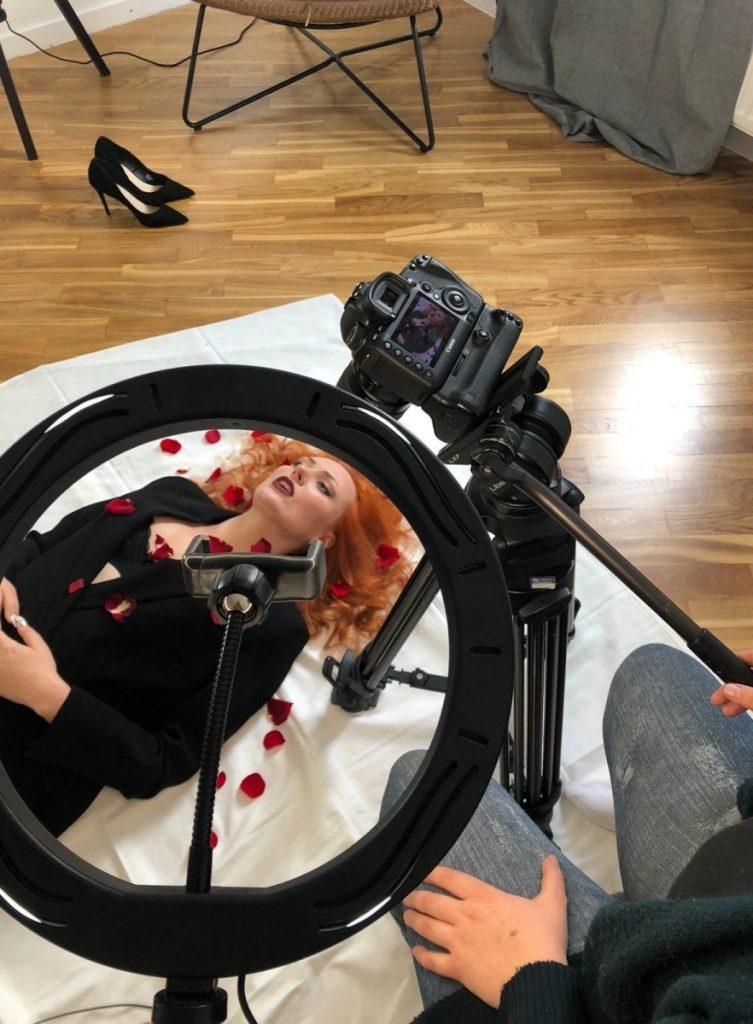 Съёмка первого клипа Ольги Лаксы