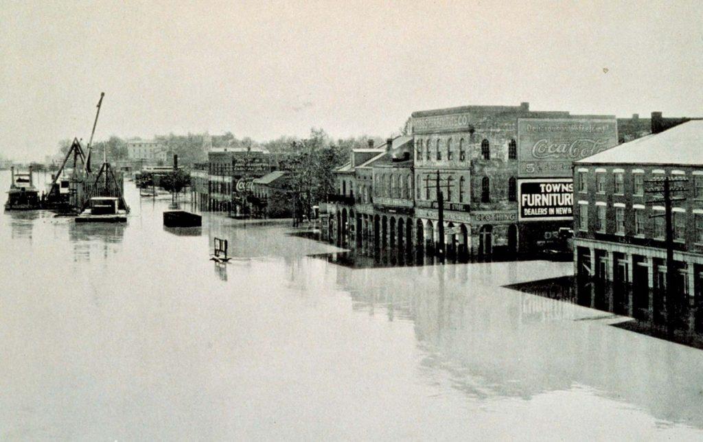 Великое наводнение на Миссисипи, 1927 год. Фото: britannica.com