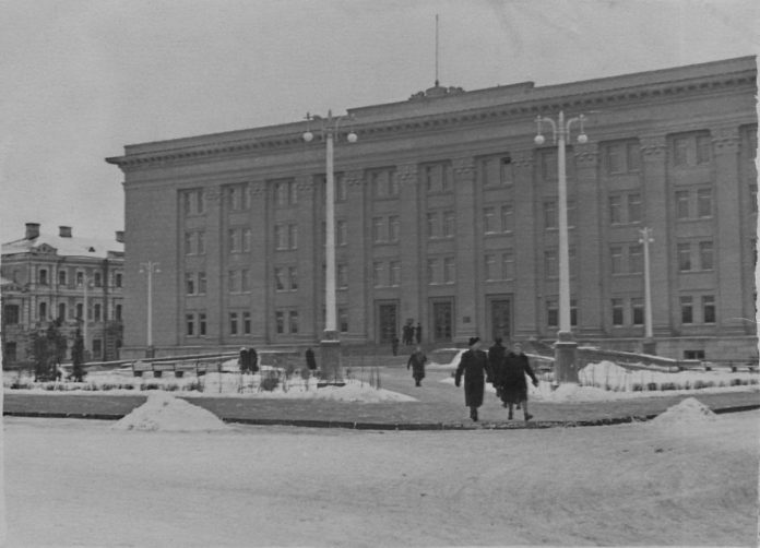 Даугавпилсский университет, 1950-е годы. Фото: Ретро Даугавпилс - Латвия