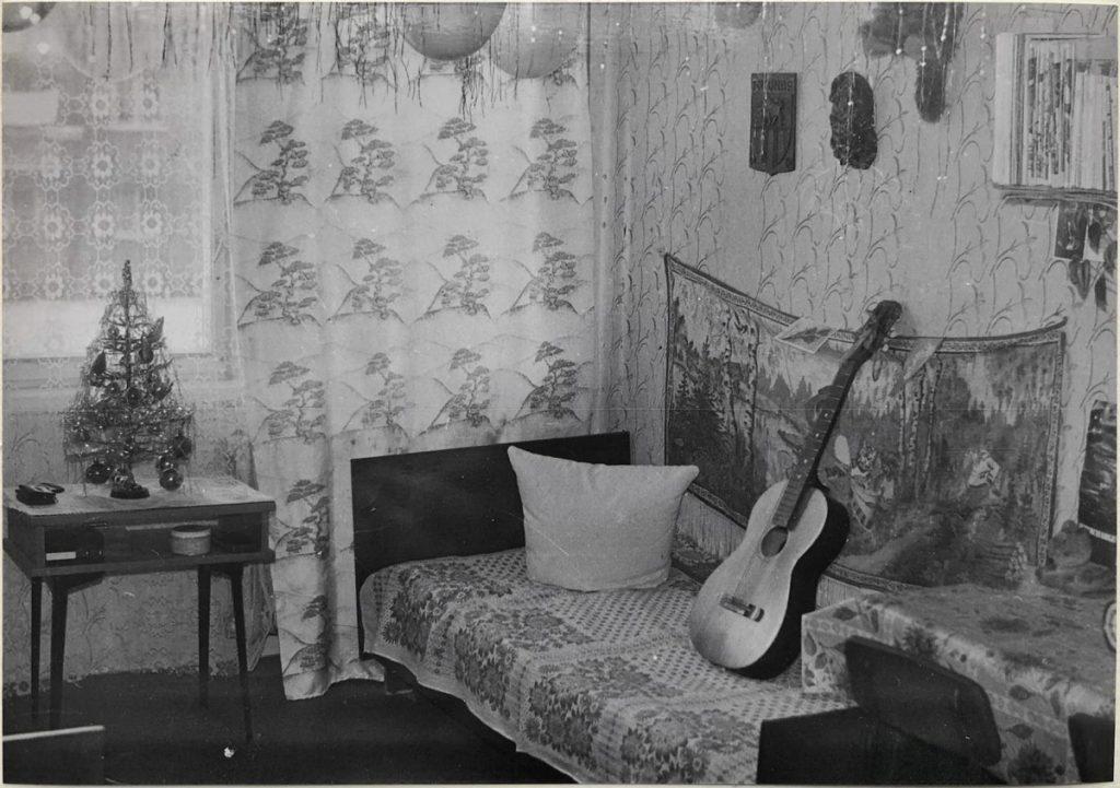 Комната общежития, 1978 год. Фото: Ретро Даугавпилс - Латвия