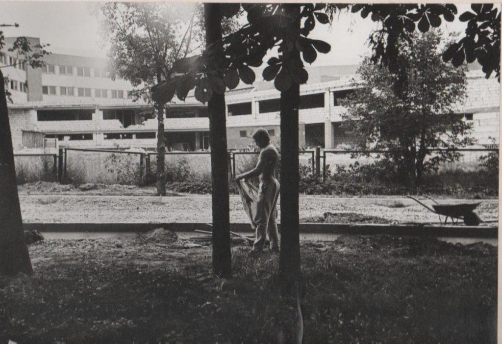 Строительство нового корпуса. 1980-ые годы. Фото из фондов музея Даугавпилсского университета