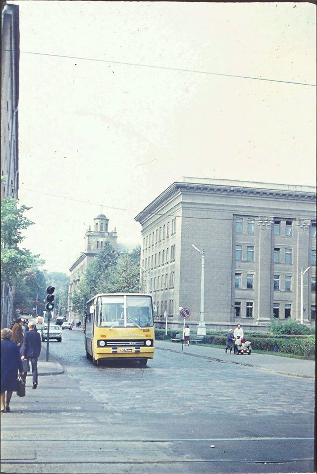 Старый корпус Даугавпилсского университета. Вторая половина 1980-ых. Фото: Ретро Даугавпилс - Латвия