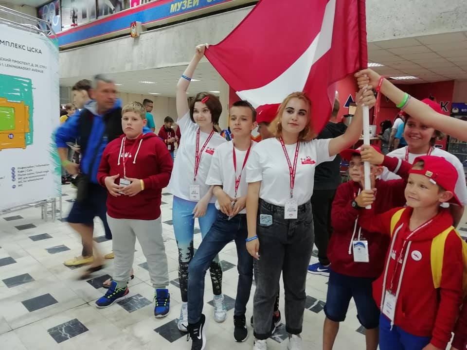 Команда Латвии на Всемирных играх победителей. 2019 год. Фото из архива Марины Столяровой