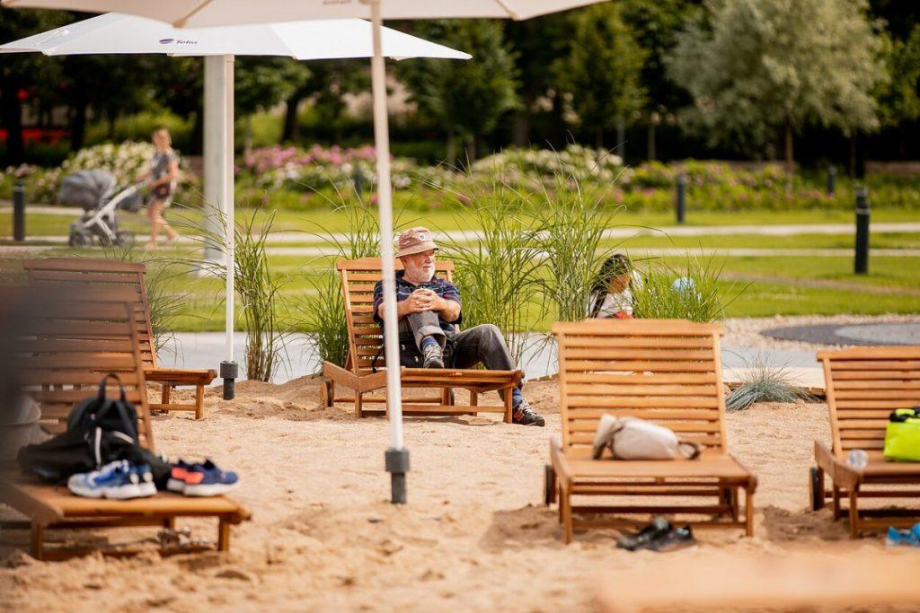 Пляж в центре Вильнюса. Фото: lrt.lt