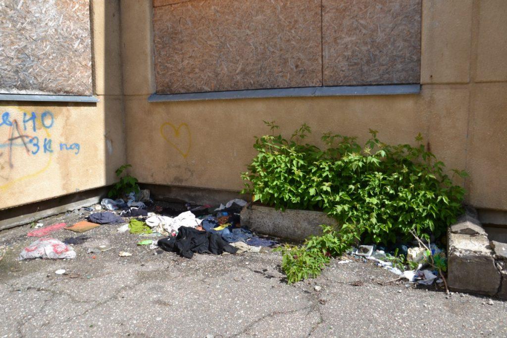 Заброшенное здание бывшего детского сада на Новом Форштадте в Даугавпилсе. 26 мая 2020 года. Фото: Елена Иванцова
